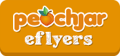orange rectangle with peachjar eflyers written inside